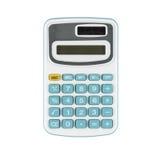 Błękitny kalkulator na Białym tle Zdjęcia Royalty Free