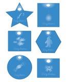 Błękitny kartka bożonarodzeniowa Zdjęcie Stock