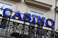 Błękitny kasyno znak Zdjęcie Stock