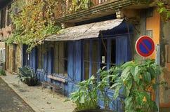 błękitny kawiarnia Obrazy Stock