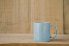 Błękitny kawowy kubek z rocznika stylu teksturą Obraz Royalty Free