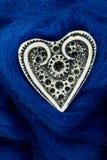 błękitny kierowego z kości słoniowej kształta tekstylny biały woolen Fotografia Stock