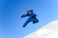 błękitny kimonowa kobieta Obraz Royalty Free