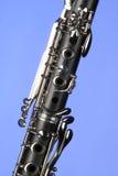 błękitny klarnetu zakończenie odizolowywający światło Obraz Stock