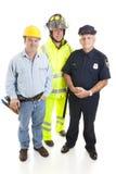 błękitny kołnierza grupy pracownicy Obraz Royalty Free