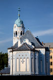 Błękitny kościół w art deco stylu, Bratislava, Sistani Zdjęcie Royalty Free