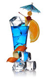 błękitny koktajl Curacao zdjęcie stock