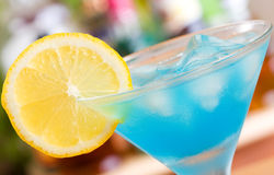 błękitny koktajl Curacao Zdjęcie Royalty Free