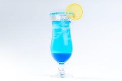 Błękitny koktajl z lodem z Zdjęcie Royalty Free