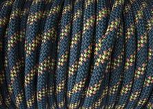 Błękitny kolor żółty deseniująca linowa rolka fotografia royalty free