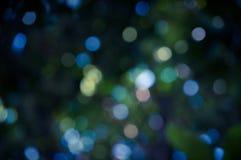 Błękitny kolor plamy ostrości okręgu bokeh Obrazy Royalty Free