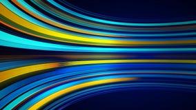Błękitny kolorowy abstrakcjonistyczny tło z animacji chodzeniem linie dla włókno światłowodowe sieci royalty ilustracja