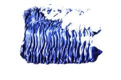 Błękitny koloru tusz do rzęs muśnięcia uderzenie na witce zdjęcie royalty free
