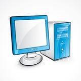 błękitny komputer royalty ilustracja