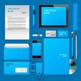 Błękitny Korporacyjny ID mockup ilustracja wektor