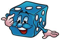 błękitny kostka do gry Obraz Royalty Free