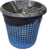 Błękitny kosz na śmiecie Zdjęcia Royalty Free