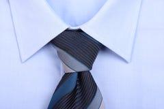 błękitny koszulowy krawat Zdjęcie Stock