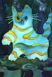 błękitny kot Obrazy Royalty Free
