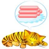 błękitny kota sen s wektor ilustracji
