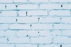 Błękitny krakingowy ściana z cegieł Zdjęcie Royalty Free