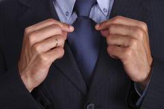 błękitny krawat Fotografia Royalty Free