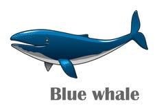 Błękitny kreskówka wieloryb Obrazy Royalty Free