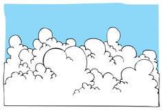 błękitny kreskówki cloudscape ilustraci niebo royalty ilustracja