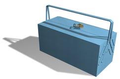 błękitny kruszcowy toolbox Obrazy Royalty Free
