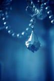 Błękitny krystaliczni szczegóły obrazy royalty free