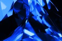 Błękitny krystaliczny tło Obraz Stock
