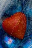 błękitny kryształów kierowy czerwony kształt Zdjęcia Stock