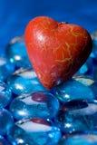 błękitny kryształów kierowy czerwony kształt Obrazy Royalty Free