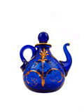 błękitny kryształ strony teapot Obrazy Stock