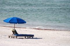 błękitny krzesło Zdjęcia Royalty Free