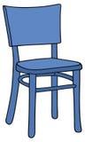 Błękitny krzesło ilustracji