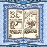 błękitny książki czary Zdjęcia Royalty Free
