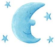 błękitny księżyc Obrazy Stock