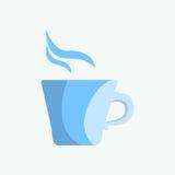 Błękitny kubek herbata lub kawa w ranku Zdjęcie Royalty Free