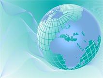 błękitny kuli ziemskiej ilustraci wektor Zdjęcia Royalty Free