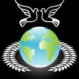 błękitny kuli ziemskiej pary biel Zdjęcia Stock