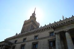 błękitny kultury pałac Poland nauki nieba lato Warsaw Obrazy Stock
