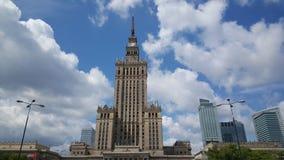 błękitny kultury pałac Poland nauki nieba lato Warsaw Fotografia Royalty Free