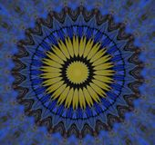 Błękitny kurenda wzór fotografia royalty free