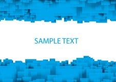 błękitny kwadraty Zdjęcia Royalty Free