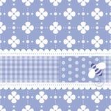 Błękitny kwiaciasty kartka z pozdrowieniami Zdjęcia Stock