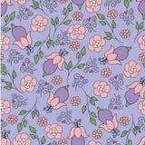 błękitny kwiatów wzoru menchie Obraz Stock
