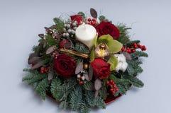 błękitny kwiatek święta ornamentu cień ilustracyjny Zdjęcia Royalty Free