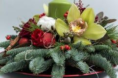 błękitny kwiatek święta ornamentu cień ilustracyjny Zdjęcie Stock