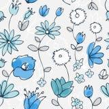 błękitny kwiatu trochę wzór bezszwowy Zdjęcie Stock